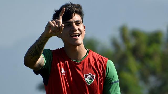 Pedro, atacante do Fluminense