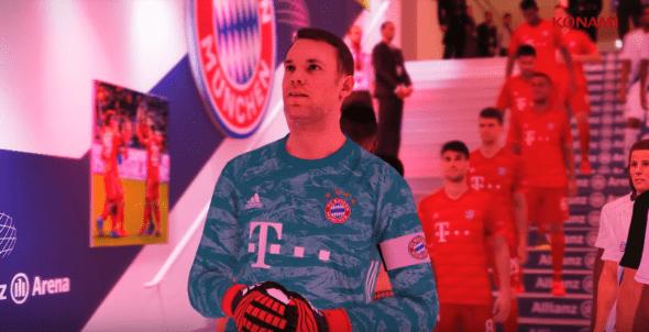 O Bayern de Munique vai ter o estádio, jogadores e uniformes licenciados no eFootball PES 20