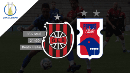 Brasil de Pelotas x Paraná se enfrentam hoje (18) às 21h30 no Bento de Freitas