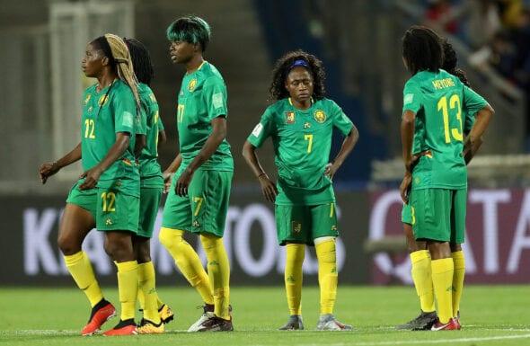 Jogadoras da Seleção Camaronesa na Copa do Mundo Feminina da França, em 2019.