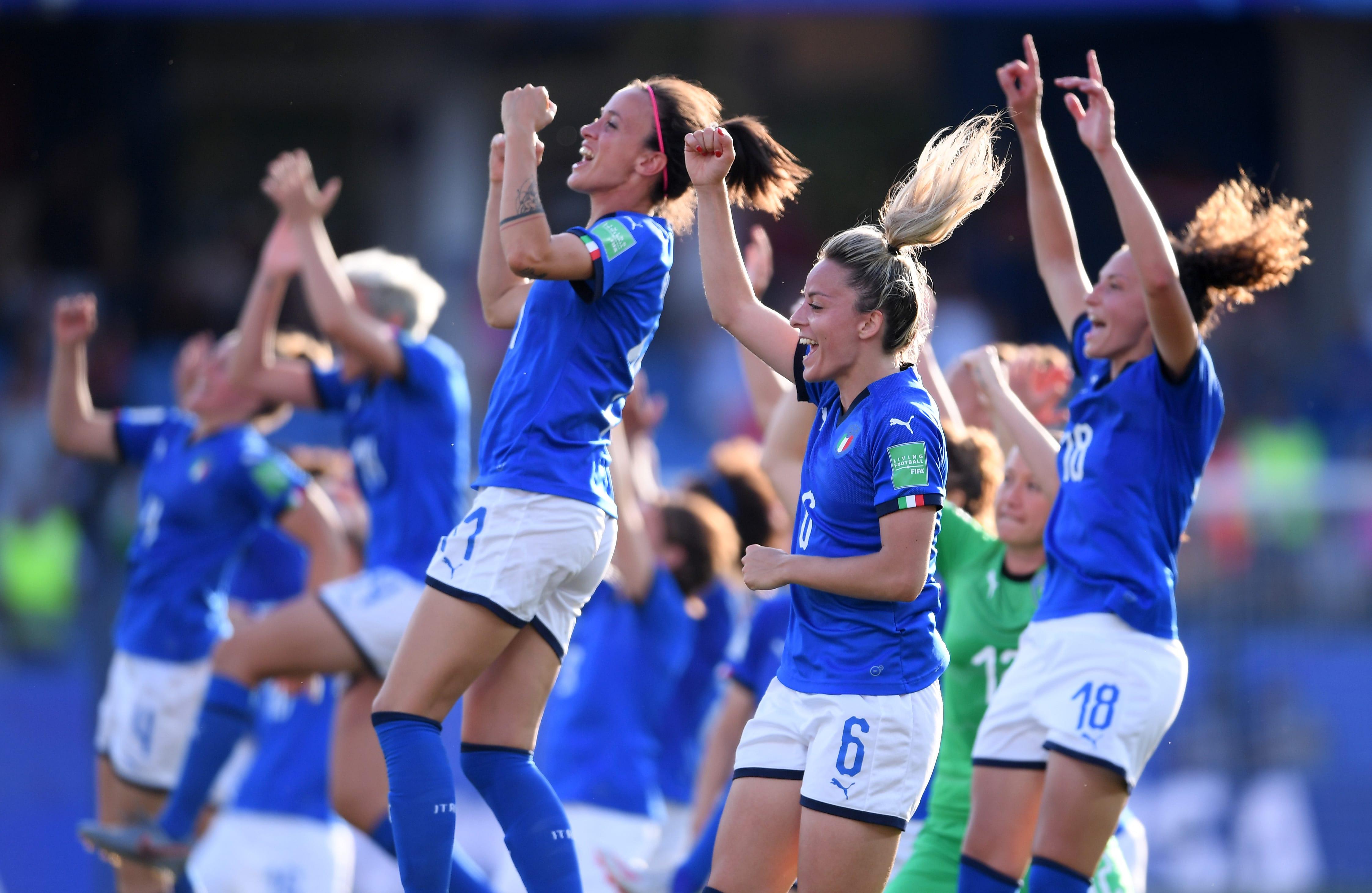 Itália x China, pela Copa do Mundo Feminina de 2019 na França.
