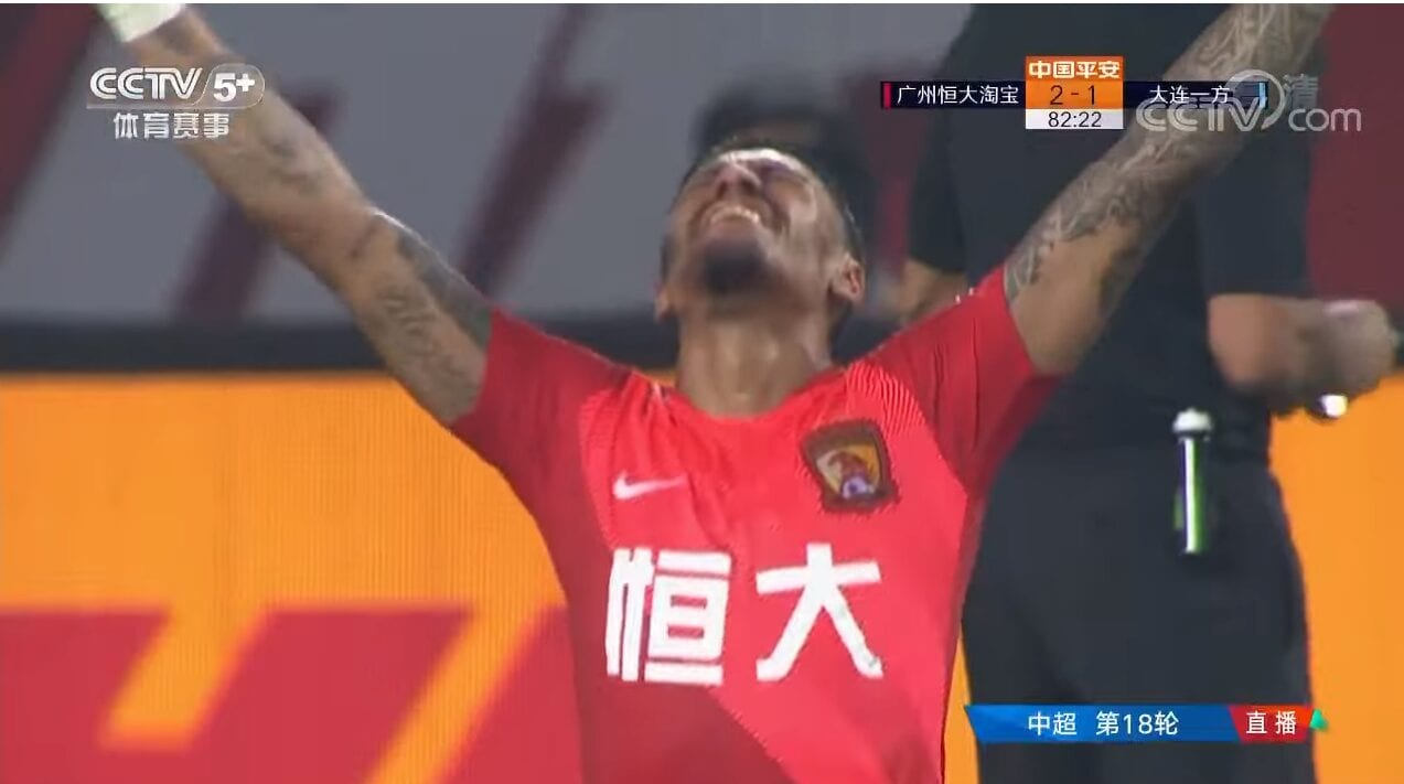 Guangzhou Evergrande abriu leve vantagem na liderança do Campeonato Chinês.