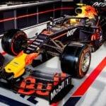 Carro da Red Bull estilizado com o logo do 007