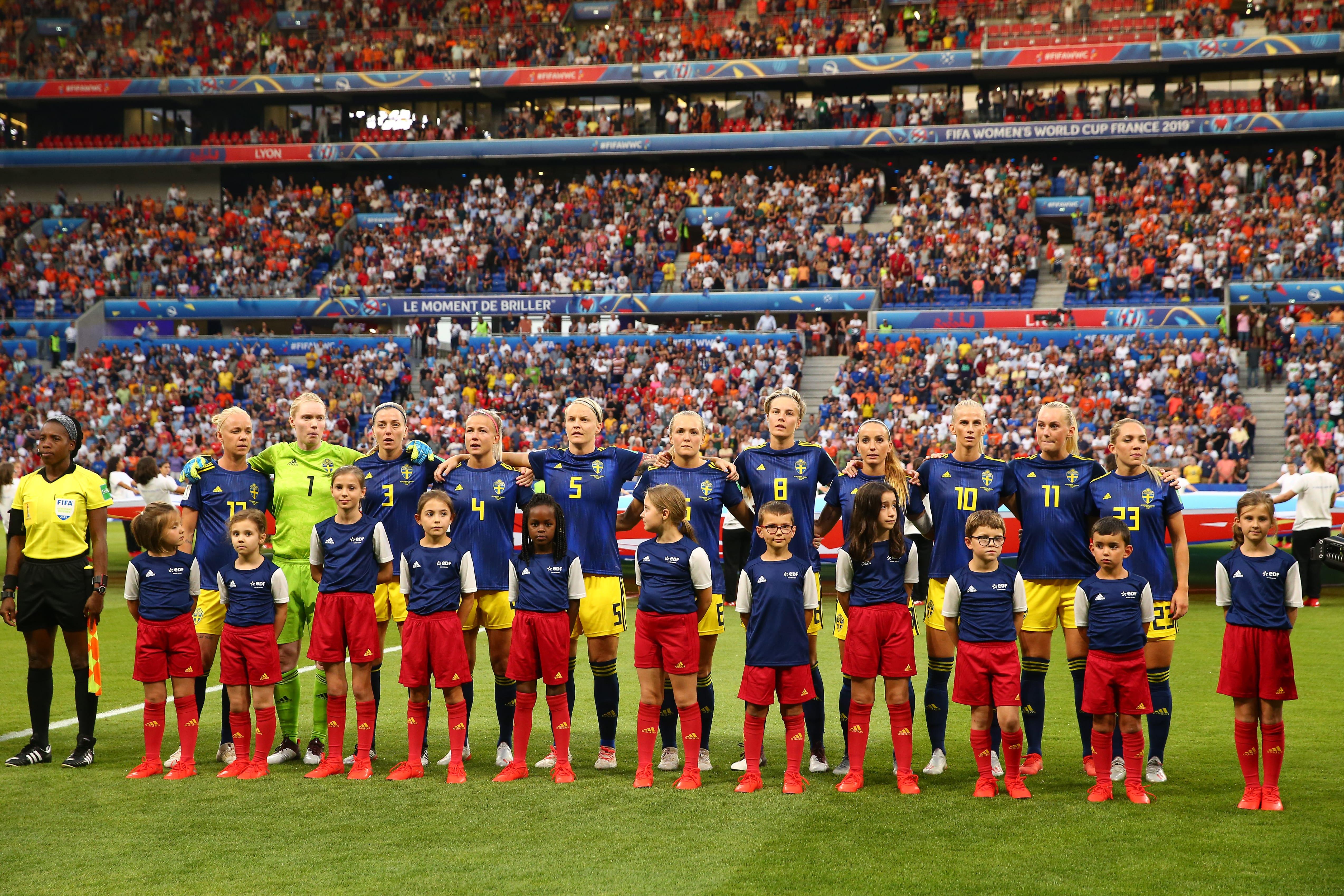 Suécia enfrenta a Inglaterra na disputa pelo terceiro lugar