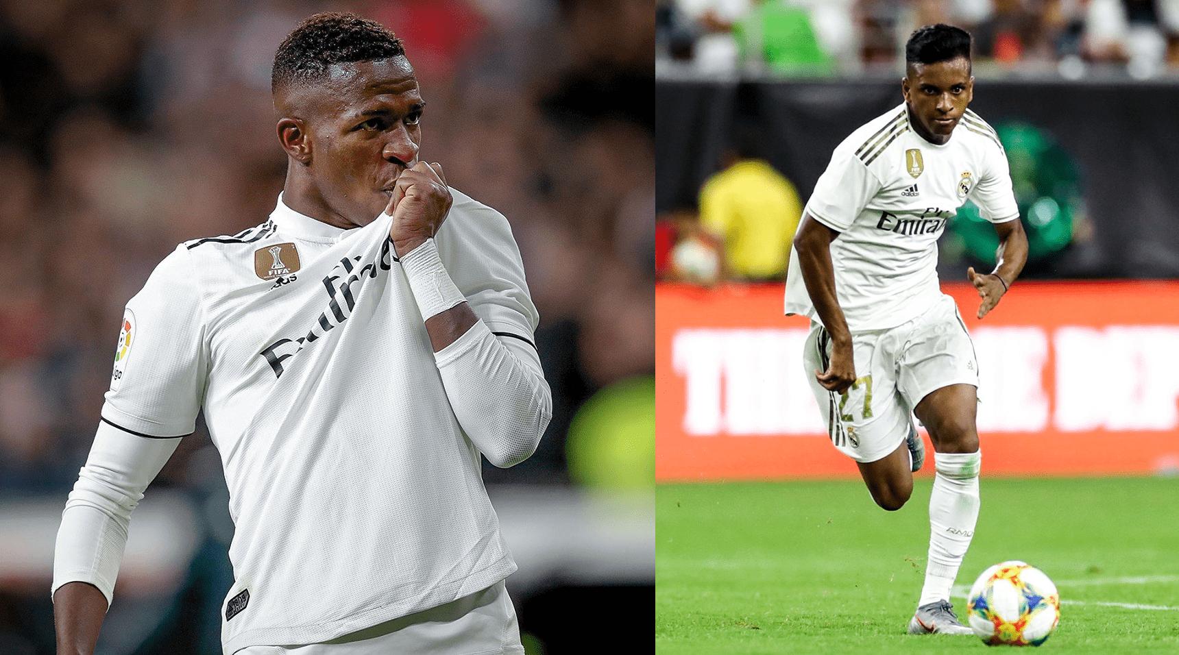 Rodrygo e Vinícius Júnior tem número de gols semelhantes no Real Madrid