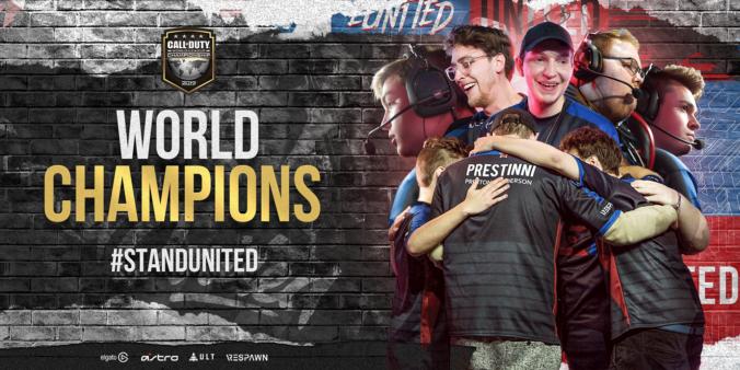 Twitter da eUnited parabenizou equipe pelo título em Call of Duty.