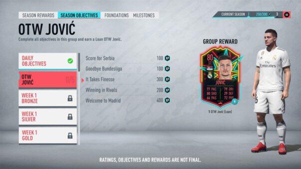No FIFA 20, o modo Ultimate Team terá desafios de Temporada, que dará recompensas ao ser completadas