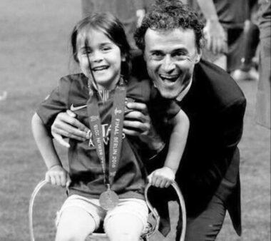 Luis Enrique e sua filha