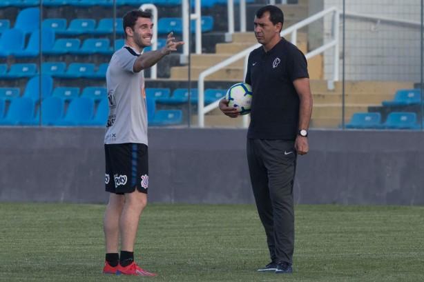 Carille e Boselli no Corinthians