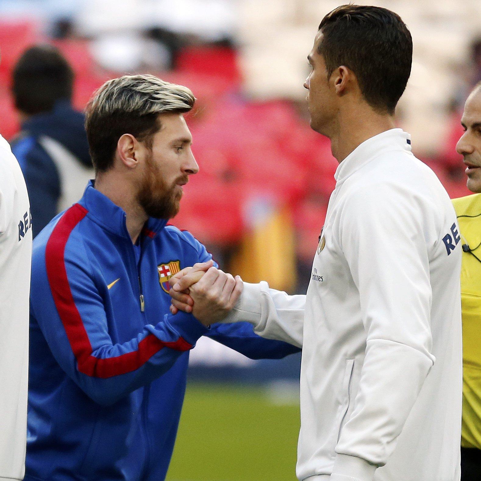 Messi e Cristiano Ronaldo ainda são rivais.