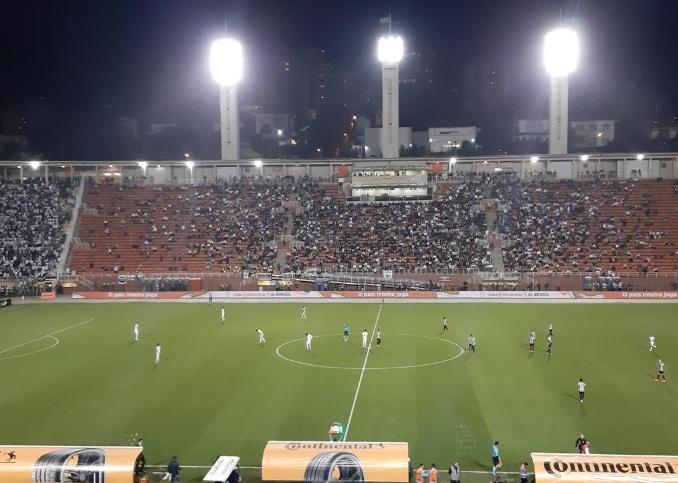 Pacaembu em Santos x Atlético-MG pela Copa do Brasil