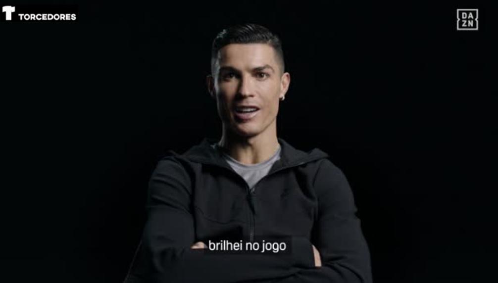 Cristiano Ronaldo relembrou jogo entre Sporting x United.