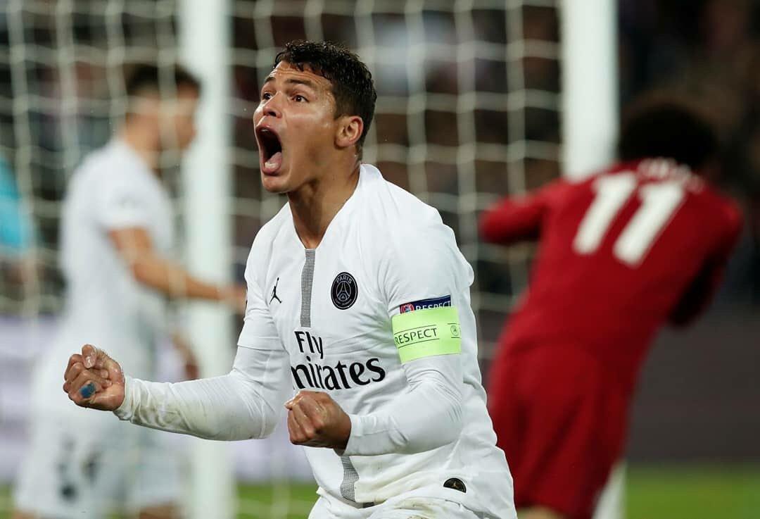 Thiago Silva top-10 jogadores com mais partidas PSG