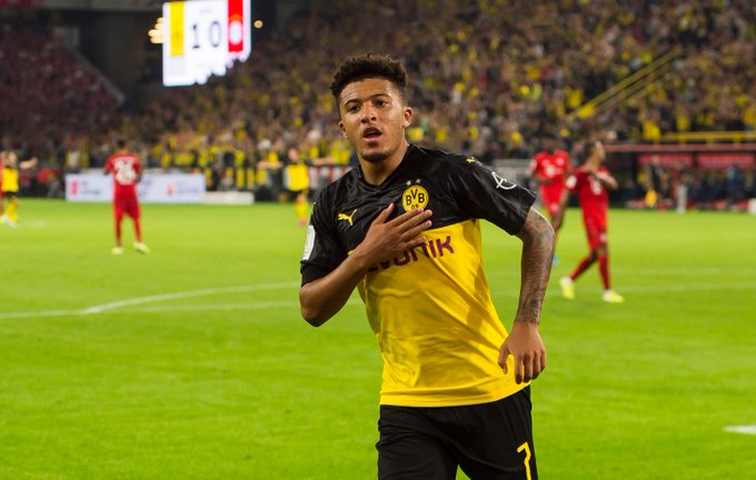 título Borussia Dortmund Sancho elogios zagueiros Bayern assustados