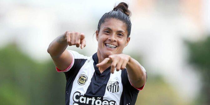 Sole Jaimes, atacante do Santos (Reprodução/ Twitter)