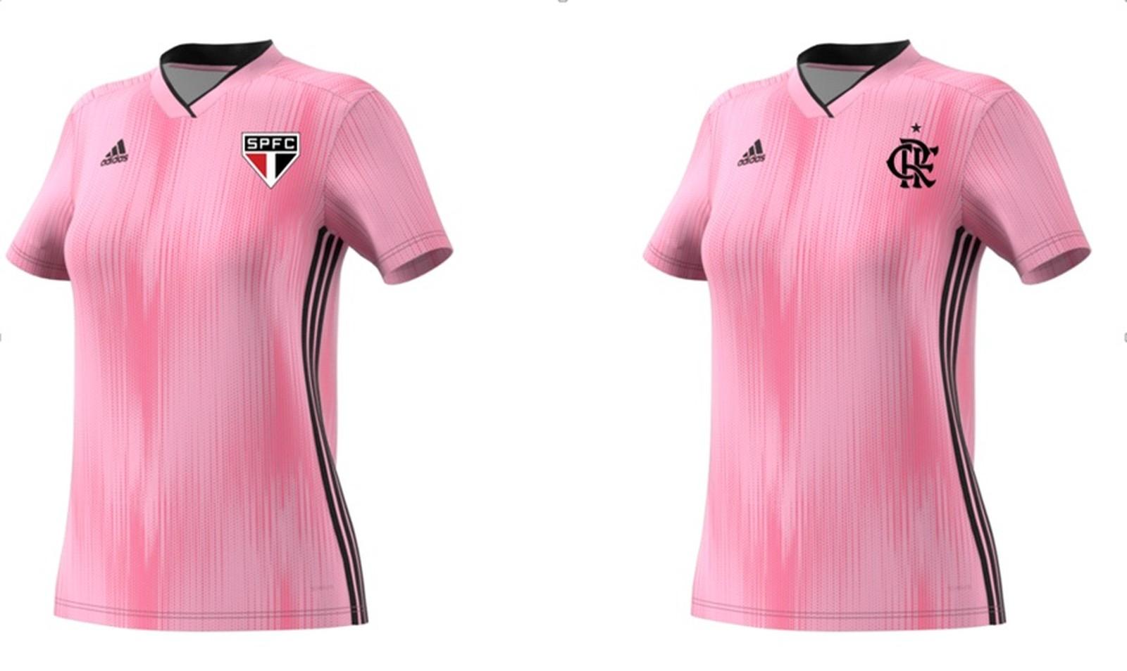 Flamengo E Sao Paulo Terao Camisas Especiais Para O Outubro Rosa