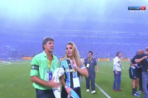 Renato Gaúcho e Carol Portaluppi - Copa do Brasil
