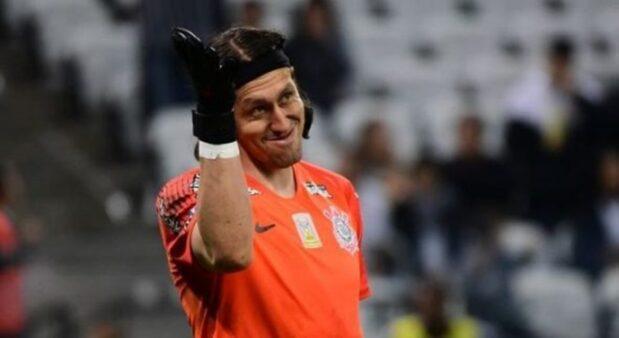 Cássio falhou no gol do Guaraní contra o Corinthians