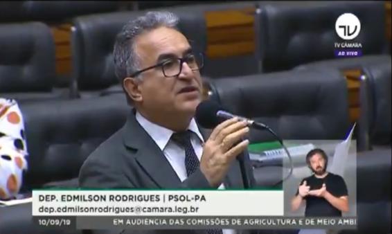 Deputado eleito no Pará, Edmilson Rodrigues criticou o árbitro Leandro Pedro Vuaden