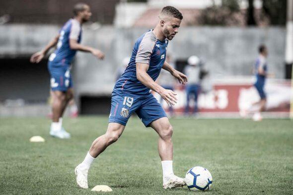 Lucas Venuto, que fez sua estreia no ataque do Santos (Foto: Reprodução/ Facebook Santos FC)