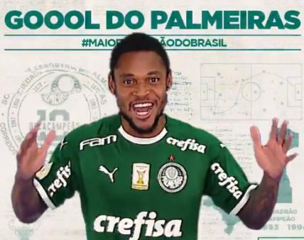 Palmeiras x Fluminense Luiz Adriano