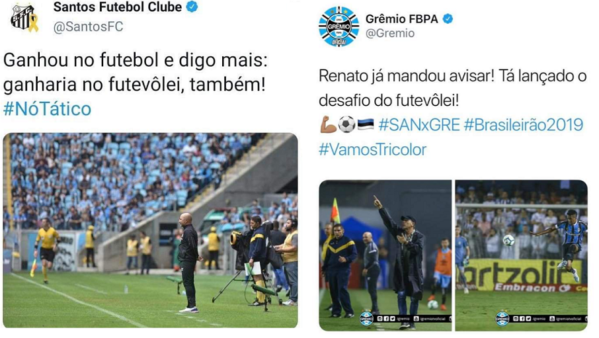 Grêmio rebateu provocação do Santos.