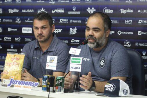 Fábio Bentes (à direita) está na reta final do primeiro ano de mandato como presidente do Remo
