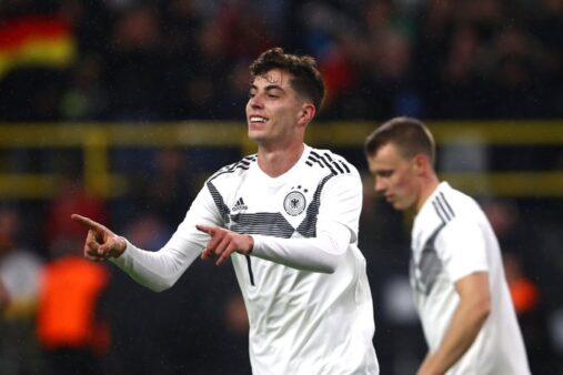 Joia nova geração alemã Kai Havertz primeiro gol seleção