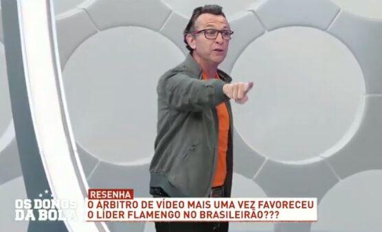 """Neto afirma que Palmeiras irá """"perder o título para a arbitragem"""" após nova polêmica envolvendo Flamengo"""