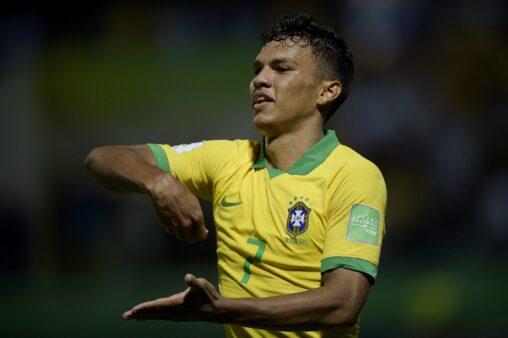 Gabriel Veron, do Palmeiras, na seleção. Copa