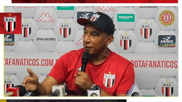 Hemerson Maria, técnico do Botafogo-SP (Reprodução/ Facebook oficial Botafogo-SP Futebol SA)