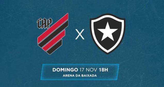 Athletico Paranaense x Botafogo, Brasileirão Série A 2019 (Reprodução/ Facebook oficial Campeonato Brasileiro)
