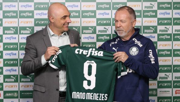 Galiotte e Mano Menezes, no Palmeiras