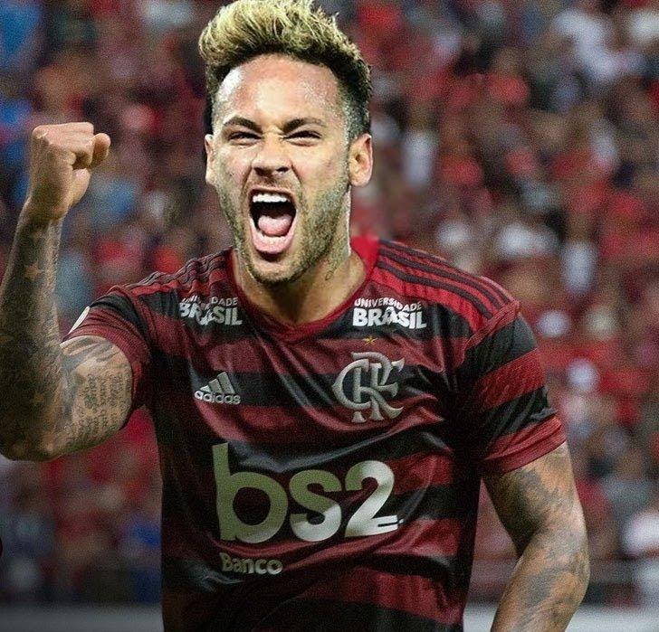 ai de Neymar visita CT do Flamengo e torcedores se ...