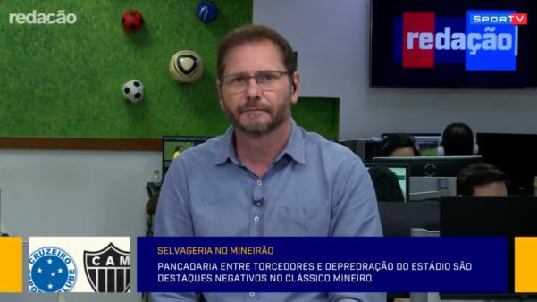 Bob Faria, comentarista do SporTV Cruzeiro