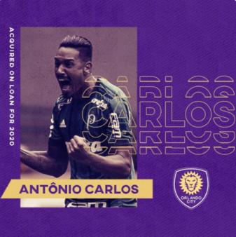 Antônio Carlos foi anunciado pelo Orlando City.