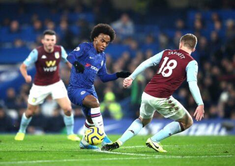 Gols Chelsea x Aston Villa