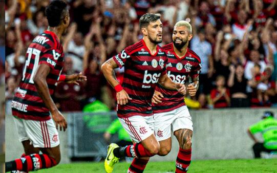 Gabigol, Bruno Henrique e Arrascaeta no Flamengo
