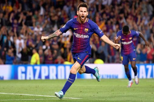 Messi comemora gol