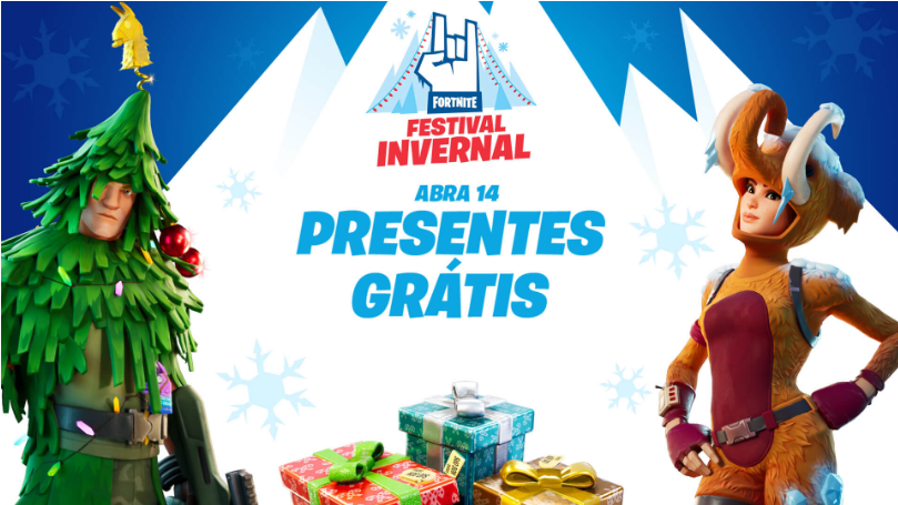 Fortnite recebe evento de natal com presentes aos jogadores