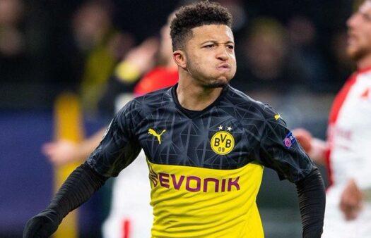 Sancho marca gol em jogo da Champions League e Twitter reage