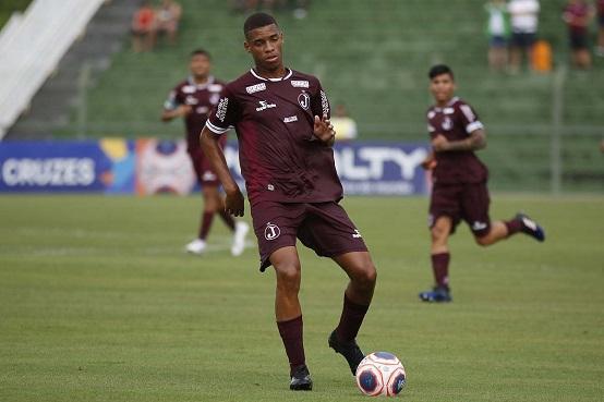 Kadu, atacante do Juventus, que participa da Copa São Paulo de Juniores pela primeira vez (Foto: Alê Vianna/ CA Juventus)