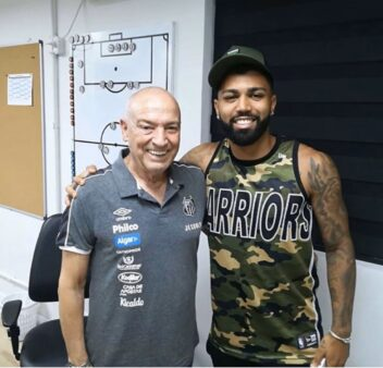 Gabigol e Jesualdo Ferreira
