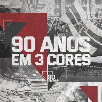 Arte de 90 anos do São Paulo