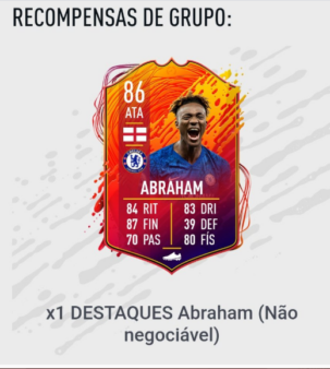 Uma das maiores promessas do futebol ingês, o atacante Abraham recebeu uma carta especial para o headliner do FIFA 20.