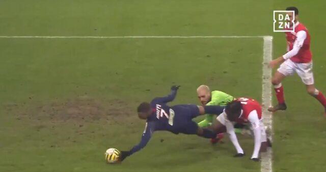 Mbappé em Reims x PSG