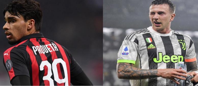 Milan propôs troca entre Paquetá e Bernardeschi