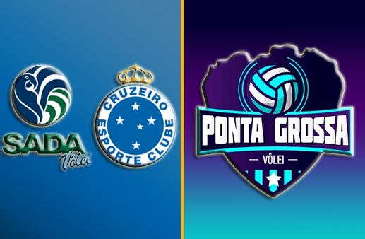 Sada Cruzeiro x Ponta Grossa Superliga Masculina de Vôlei