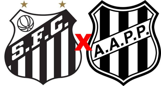 Santos x Ponte Preta/ Copa São Paulo 2020 (Reprodução/ Arte/ Escudos/ Montagem: Adriano Oliveira)