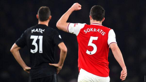 Sokratis vitória Arsenal sobre o Manchester United